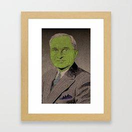 Harry S. Truman, the Goblin King Framed Art Print