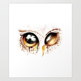 Bown owl eye Art Print