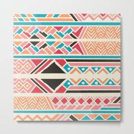Tribal ethnic geometric pattern 037 Metal Print