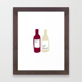 Love wine Framed Art Print