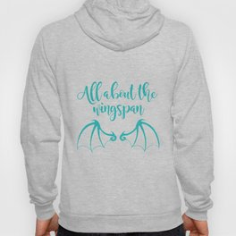 All About the Wingspan blue design Hoody