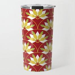 Red Asian pattern Travel Mug