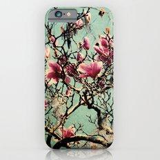 Pink Japanese Magnolia Tree in Flower Slim Case iPhone 6s
