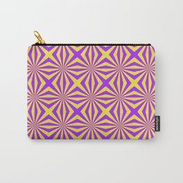 Sunbeams in Violet and Yellow Tiled Carry-All Pouch