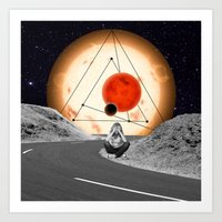 alone Art Prints featuring Alone by Cs025