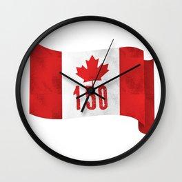 Canada 151 Canada Day Celebrations July 1s Wall Clock