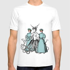 Follow Me Into The Dark Mens Fitted Tee SMALL White