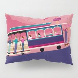 San Francisco Tram on the Hill Pillow Sham
