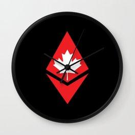 Canada flag ethereum Wall Clock