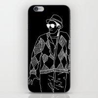 eddie vedder iPhone & iPod Skins featuring eddie by Panic Junkie