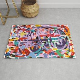 Abstract Graffiti Art Colors of Life by Emmanuel Signorino Rug