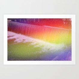 """The Crane by the Creek"" - Light Leaked Film Photograph Art Print"