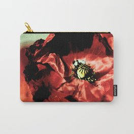 one red poppy Carry-All Pouch