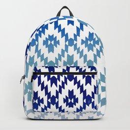 ombre blue ikat Backpack