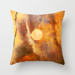 Hot Summer Dazed Ripped From Time Throw Pillow