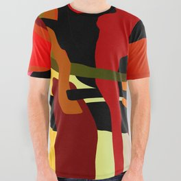 Chaotic All Over Graphic Tee