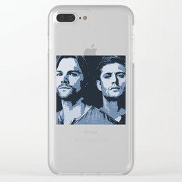 Sam and Dean - (Blue) Clear iPhone Case
