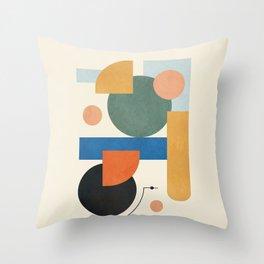 Geometric Color Play 01 Throw Pillow