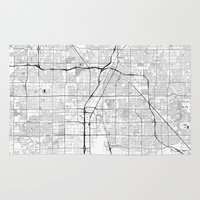 las vegas Area & Throw Rugs featuring Las Vegas Map Gray by City Art Posters