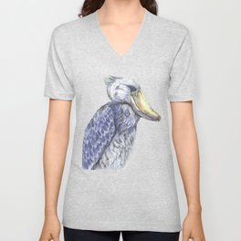 Shoebill Unisex V-Neck