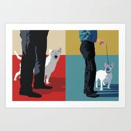 bull terriers Art Print