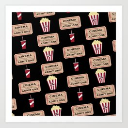 Let's Go to the Movie theatre Art Print