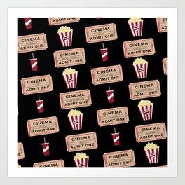 Let's Go to the Movie theatre Art Print