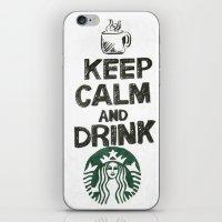 starbucks iPhone & iPod Skins featuring Starbucks by jrgff