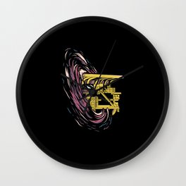 Truck Space Wall Clock