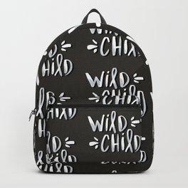 Wild Child – White on Black Palette Backpack
