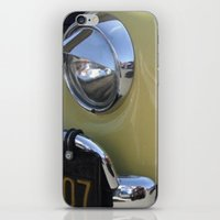 volkswagon iPhone & iPod Skins featuring Yellow Love Bug by wildVWflower