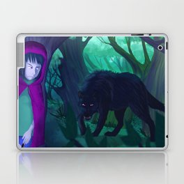 Red and wolf Laptop & iPad Skin