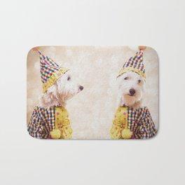 Circus Clown Dogs Bath Mat