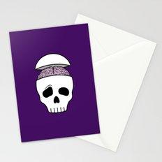 Brainy Skull Stationery Cards