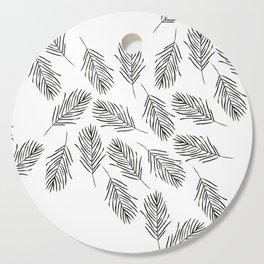 Black leaves Cutting Board