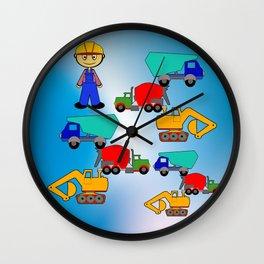 Kleiner Bauarbeiter Wall Clock