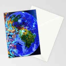 Lost Between the Earth and the Mon Stationery Cards