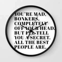 mad hatter Wall Clock