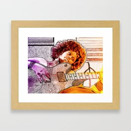 FAR AWAY (featuring source photography by Antonia Jenae') Framed Art Print
