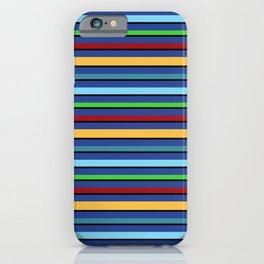 Toucan Blue Stripes iPhone Case
