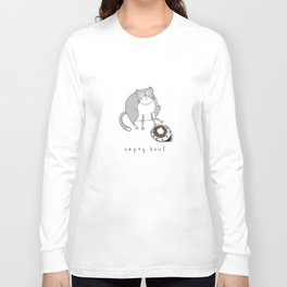 Cat-Empty Bowl Long Sleeve T-shirt