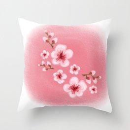 Sakura flower Throw Pillow