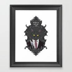 American Psycho Kitty Framed Art Print