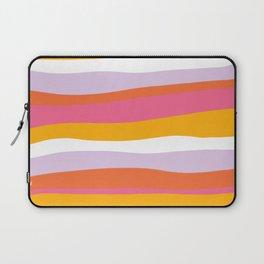 cali beach stripes Laptop Sleeve