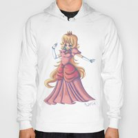 princess peach Hoodies featuring Princess Peach by Christine Tribou