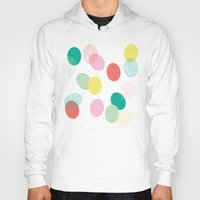 eggs Hoodies featuring Easter Eggs by K&C Design