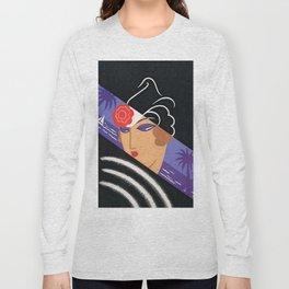 """Art Deco Design """"Winter Resort"""" Long Sleeve T-shirt"""