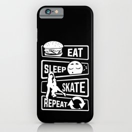 Eat Sleep Skate Repeat - Figure Skating Winter Ice iPhone Case