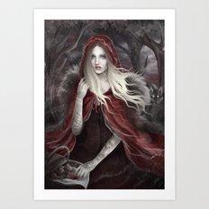 Red Riding Hood (Chaperon Rouge) Art Print