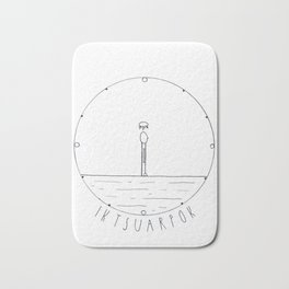 Simple time drawing Bath Mat